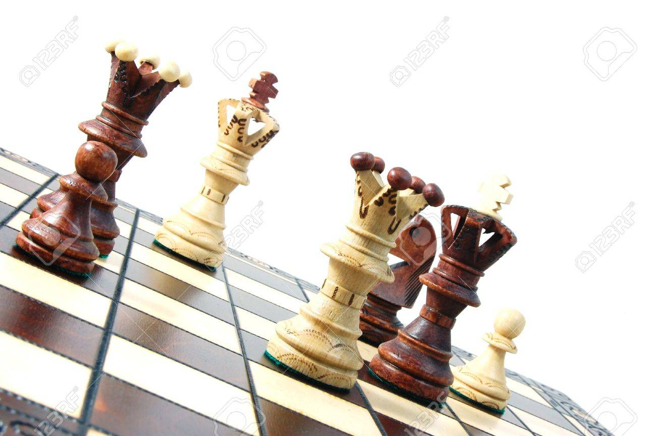 chess pieces on a chess board showing concept for strategic business Stock Photo - 5174482