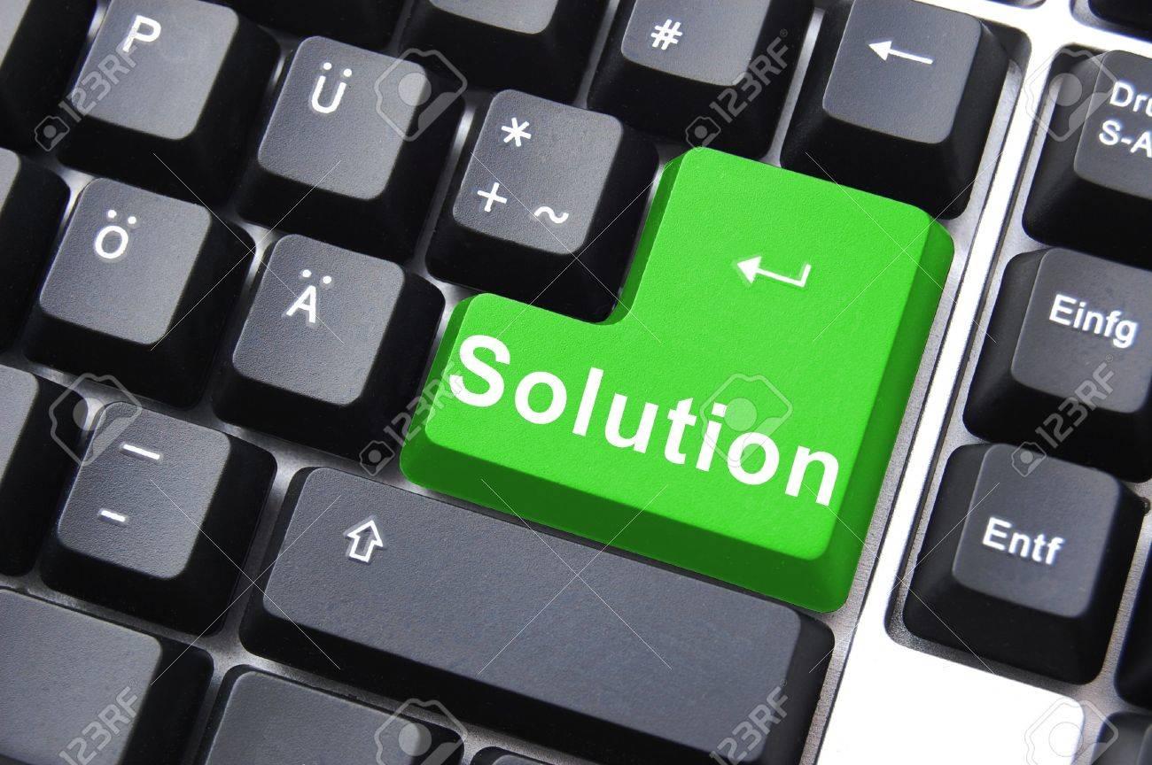 solution written on a computer keyboard enter button Stock Photo - 5405442