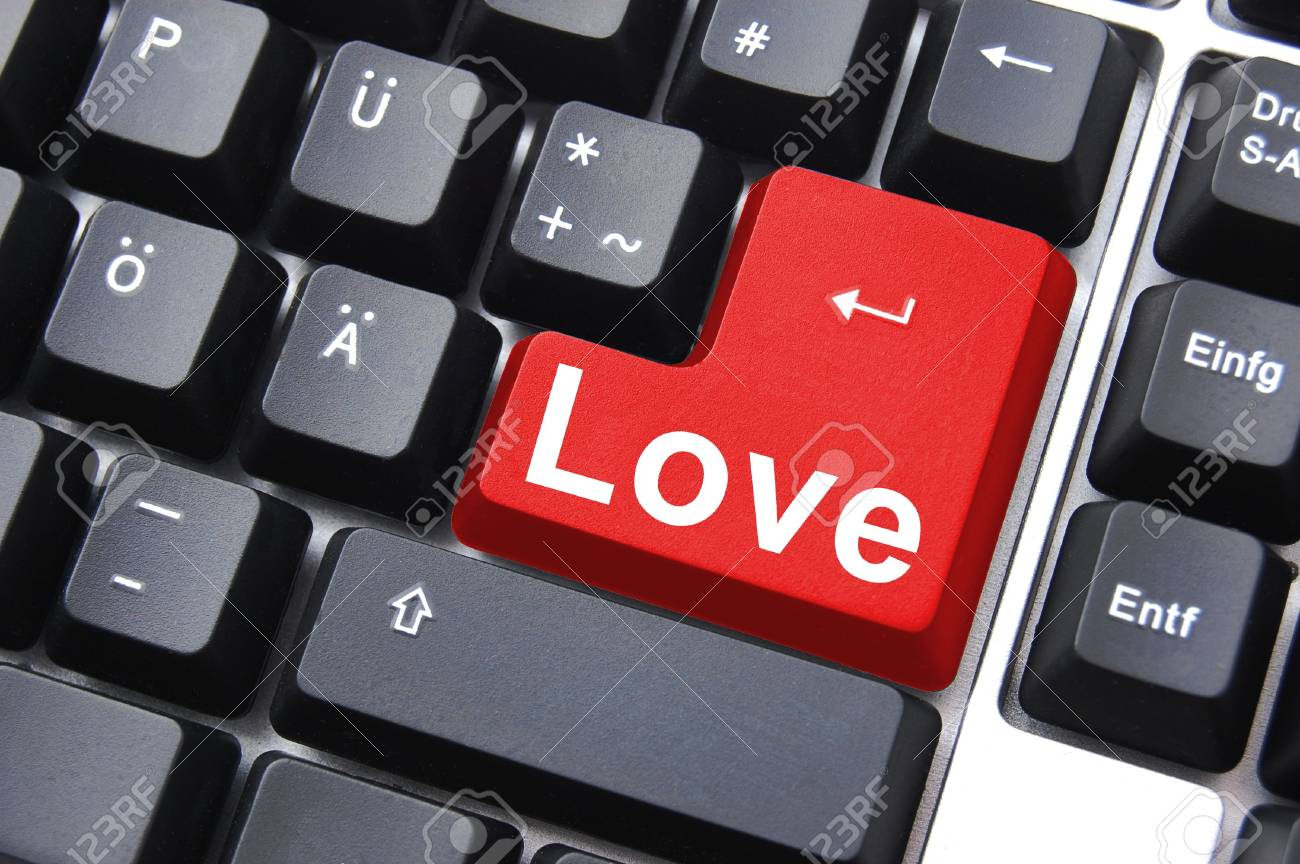 love button showing concept for online dating Stock Photo - 5541247