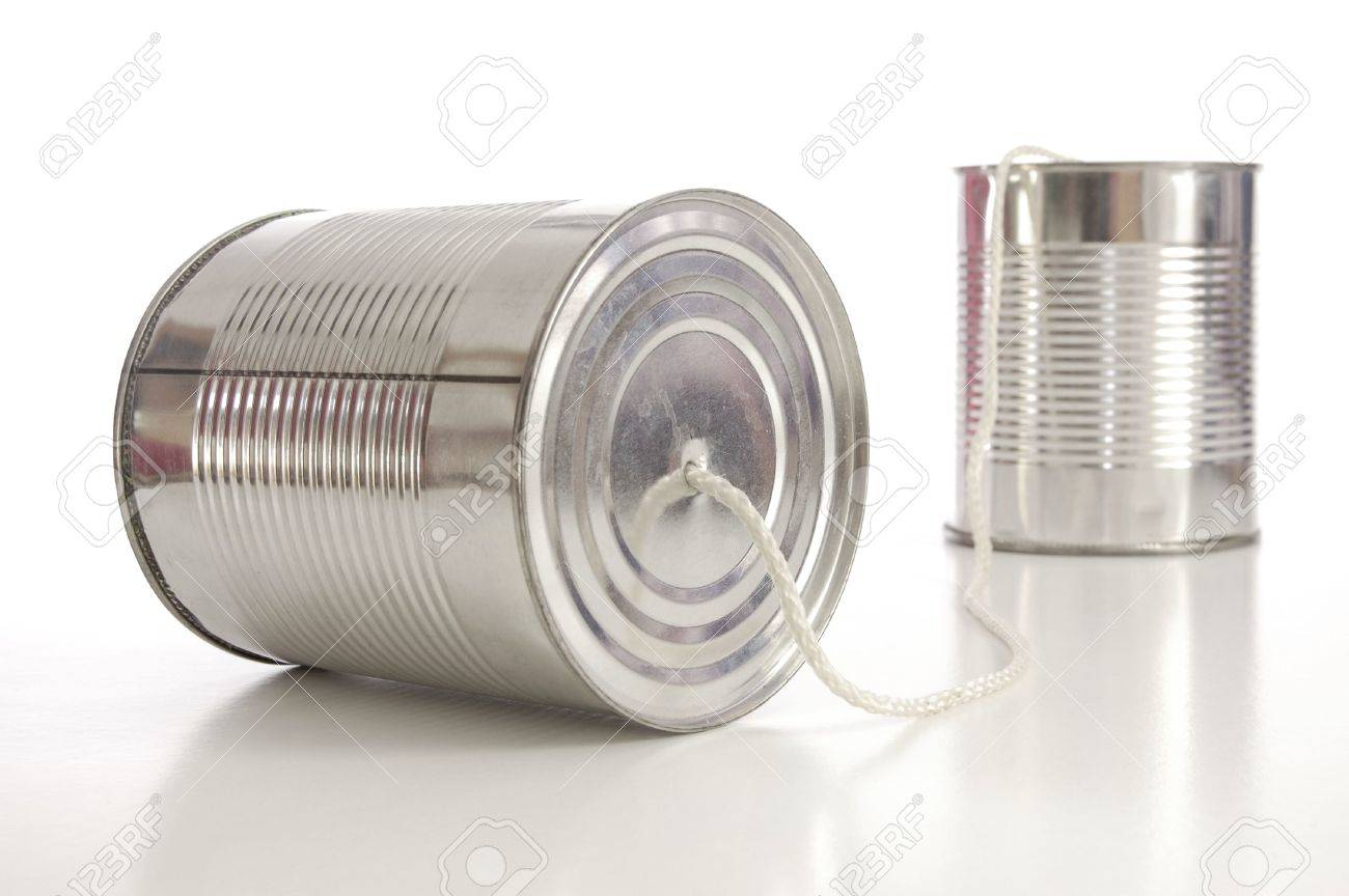 ton can phone showing business communication concept Stock Photo - 5549950
