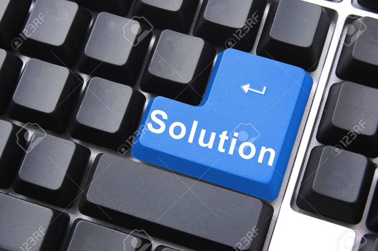 solution written on a computer keyboard enter button Stock Photo - 5639093