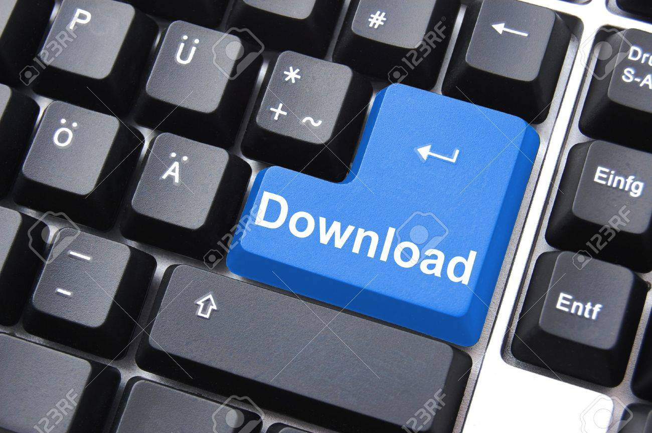 internet download button on black computer keyboard Stock Photo - 5752158