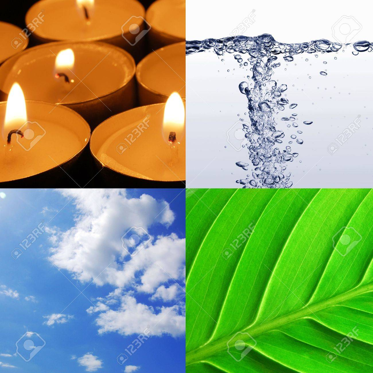 the four elements earth wind water and fire Stock Photo - 5864208