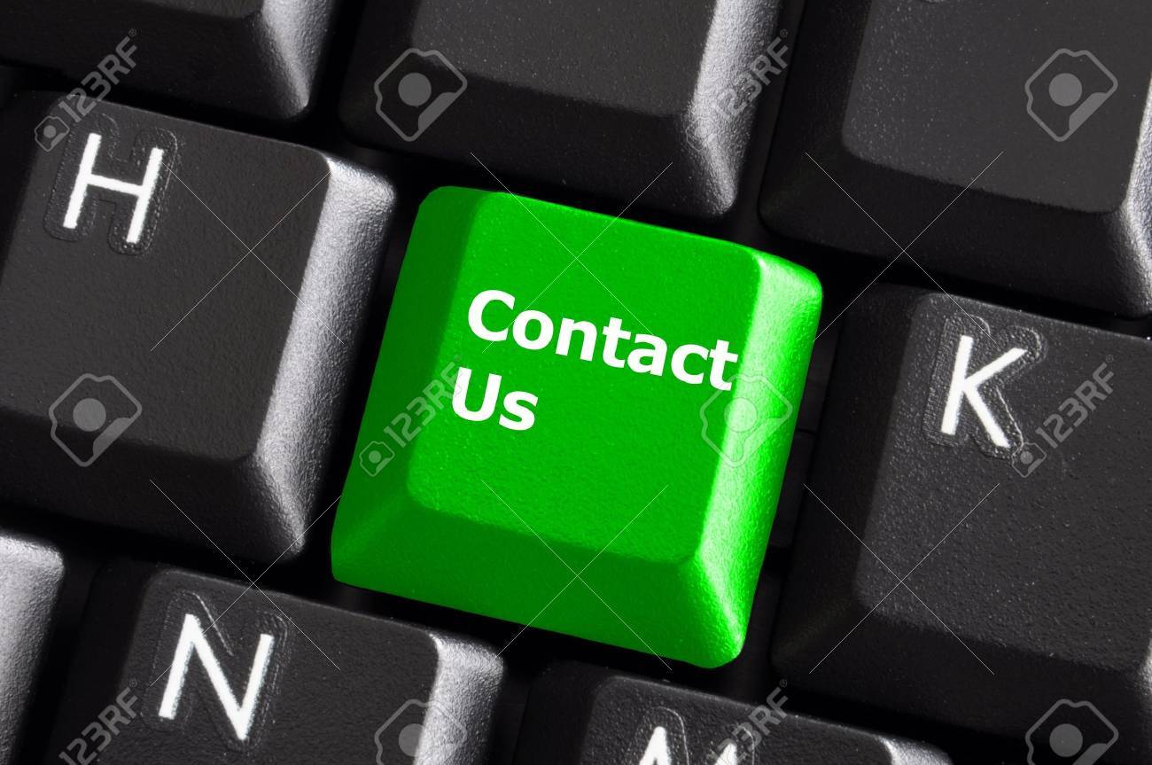 contact us or support concept with computer keyboard button Stock Photo - 5881999