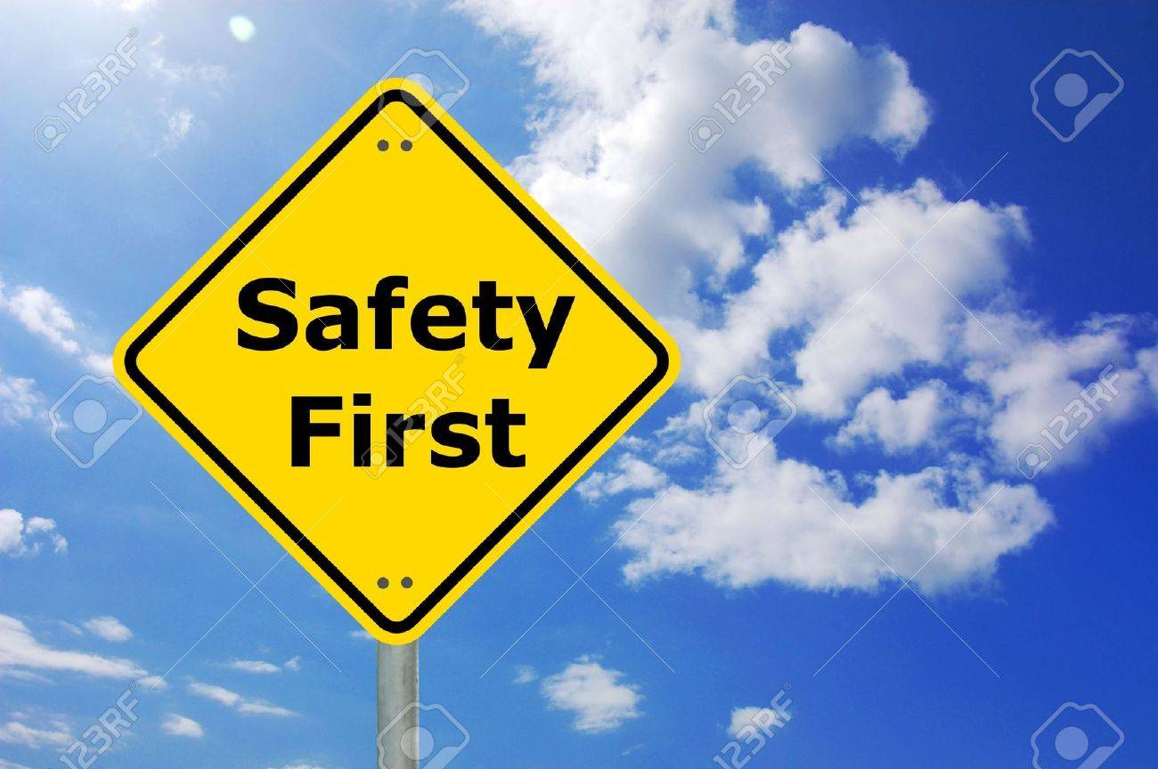 safety first sign and copyspace for text message Stock Photo - 5952369