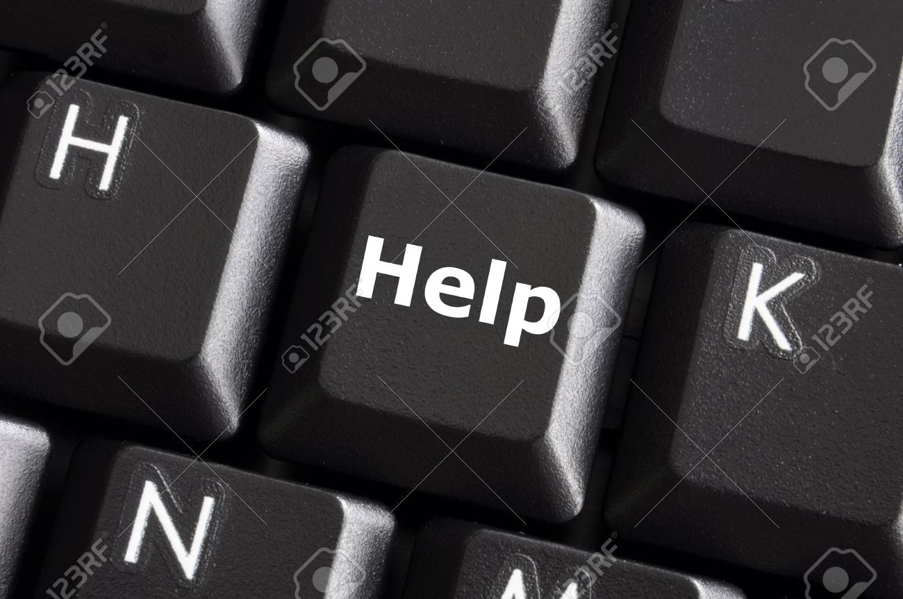 help support or assistance concept with button on computer keyboard Stock Photo - 6007776