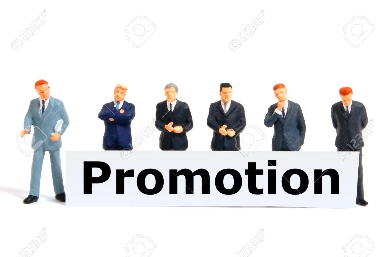 word promotion on board showing job success or concept stock stock photo word promotion on board showing job success or concept
