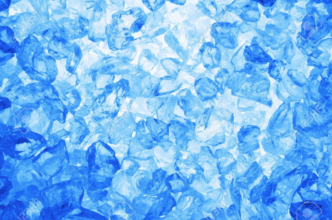 Fresh Cool Ice Cube Background Or Wallpaper For Summer Winter Stock Photo