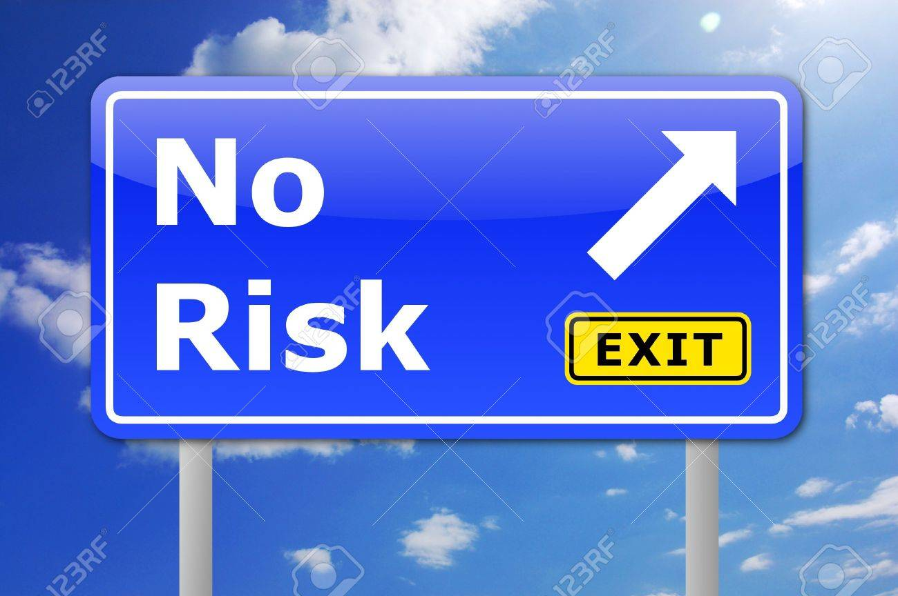 no risk concept for your financial investment Stock Photo - 6198832