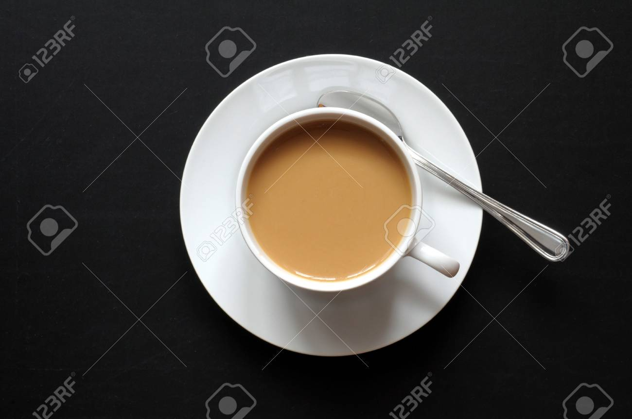 black copyspace and cup of coffee showing relaxation concept Stock Photo - 6745047