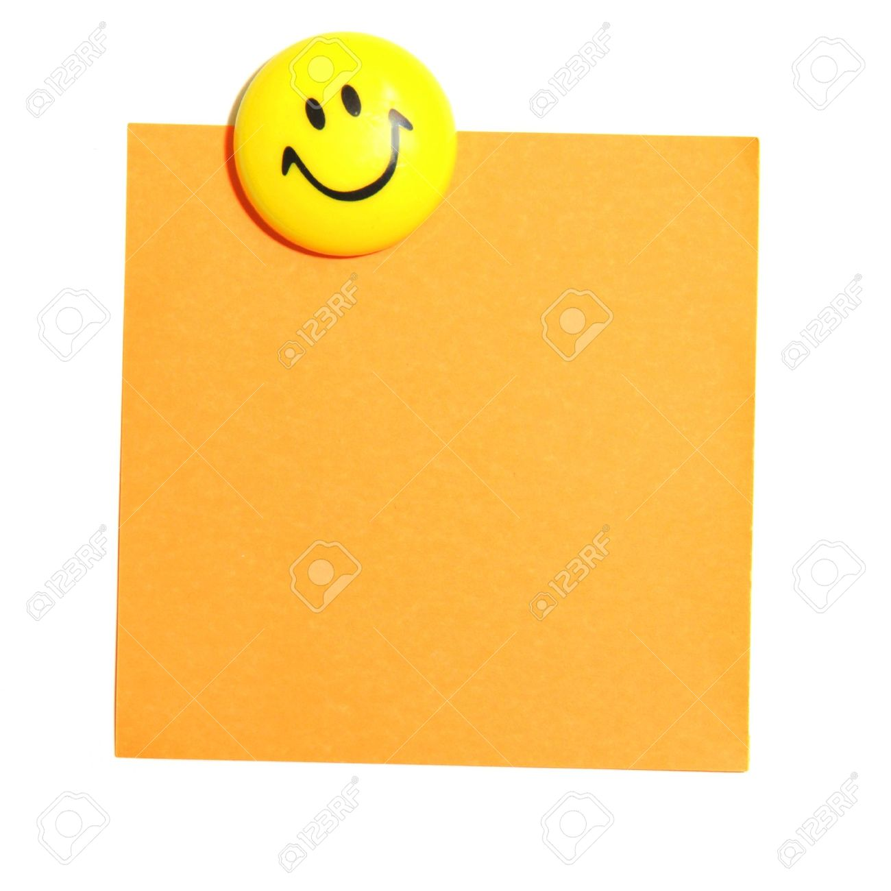 Smiley Face And Blank Paper With Copyspace For Your Text Message