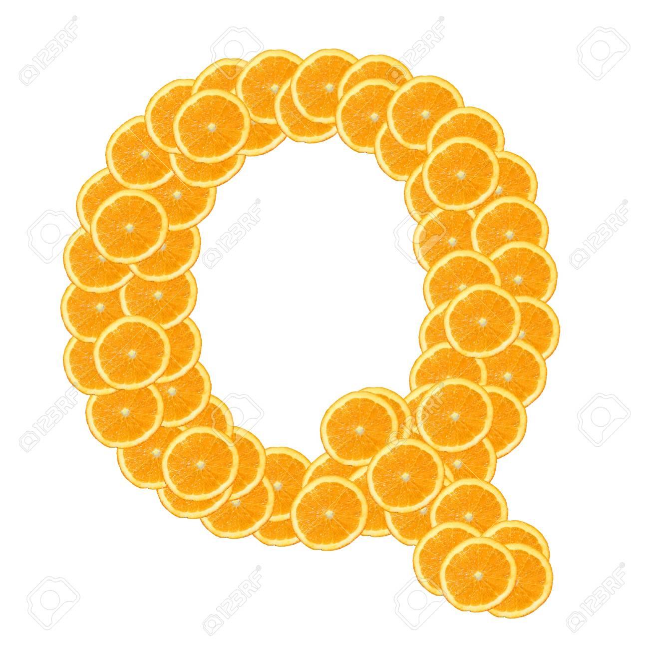 healthy orange fruit alphabet or font isolated on white background Stock Photo - 7092820