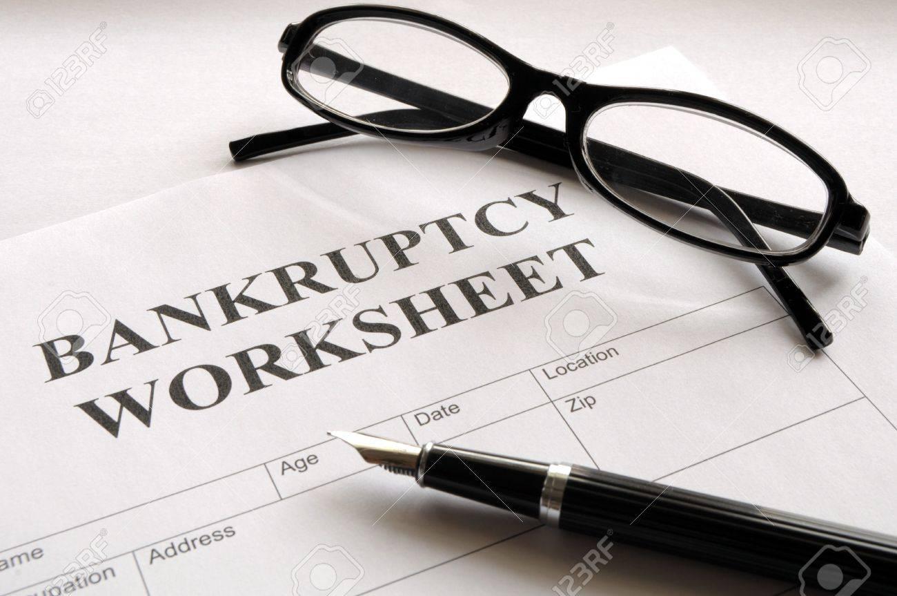 Printables Bankruptcy Worksheet bankruptcy worksheet davezan form or document showing business concept