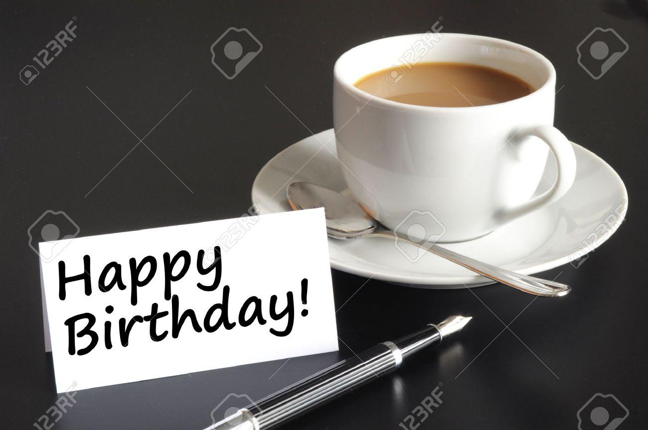 joyeux anniversaire avec café