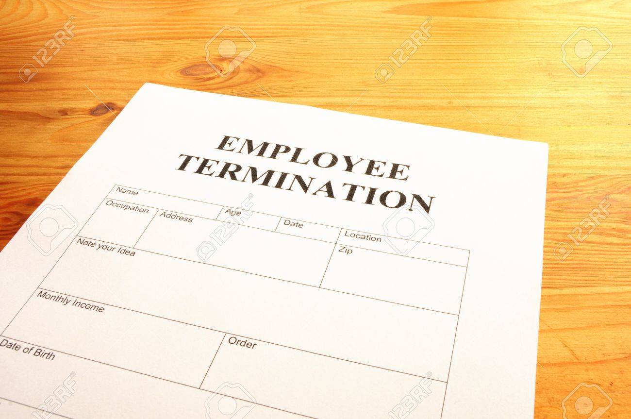 Employee Termination Form On Desk In Business Office Showing – Free Termination Form