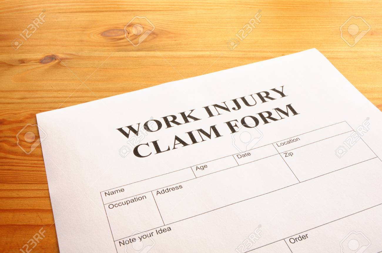 work injury claim form showing business insurance concept Stock Photo - 7699341