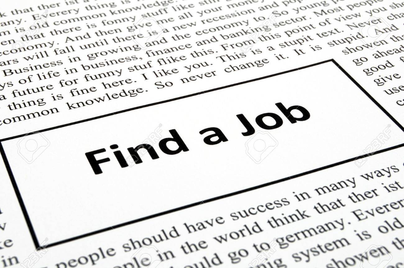 find a job in newspaper showing unemployment concept stock photo stock photo a job in newspaper showing unemployment concept