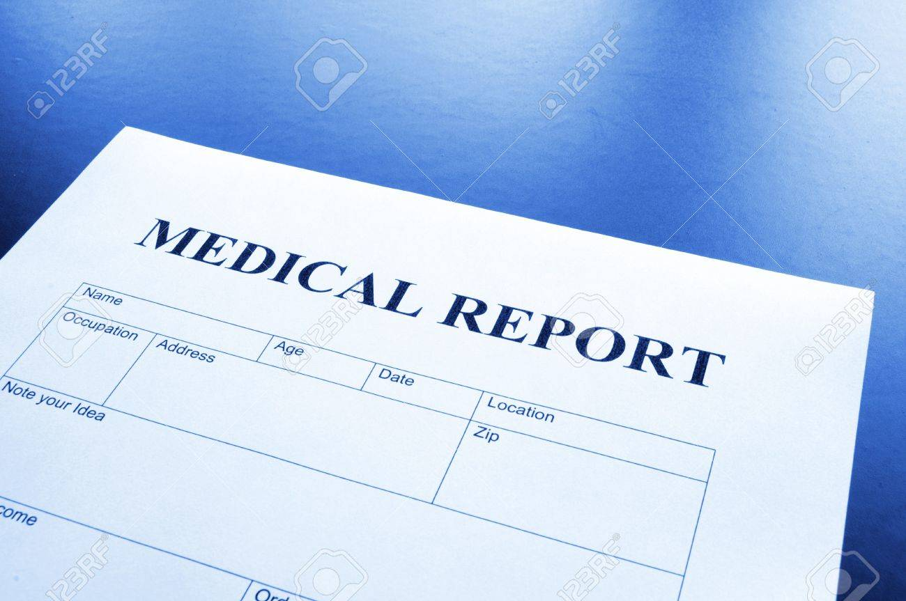 Medical Report Form In Doctors Hospital Office Showing Health ...