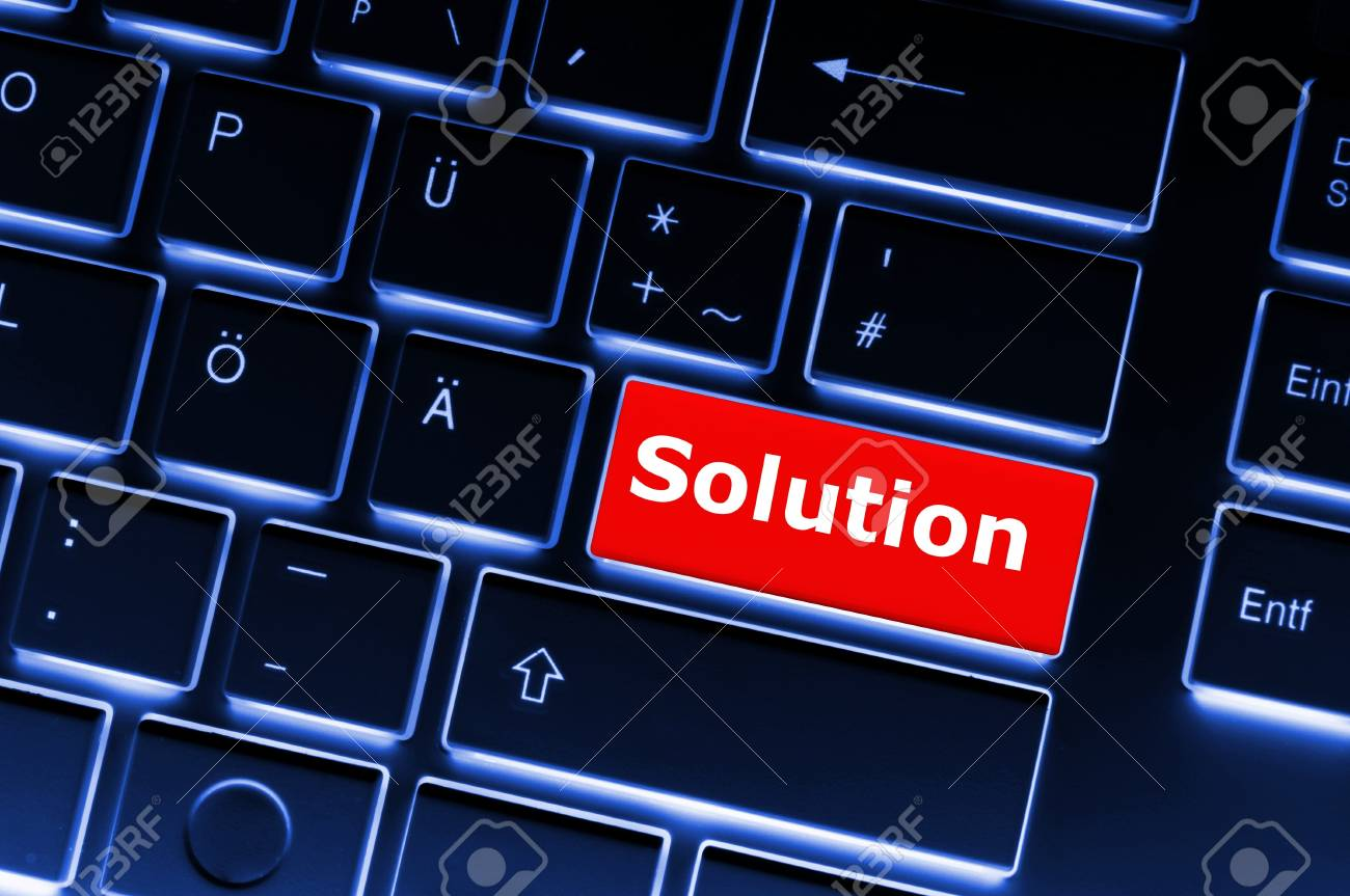 solution concept with internet computer key on keyboard Stock Photo - 8067230