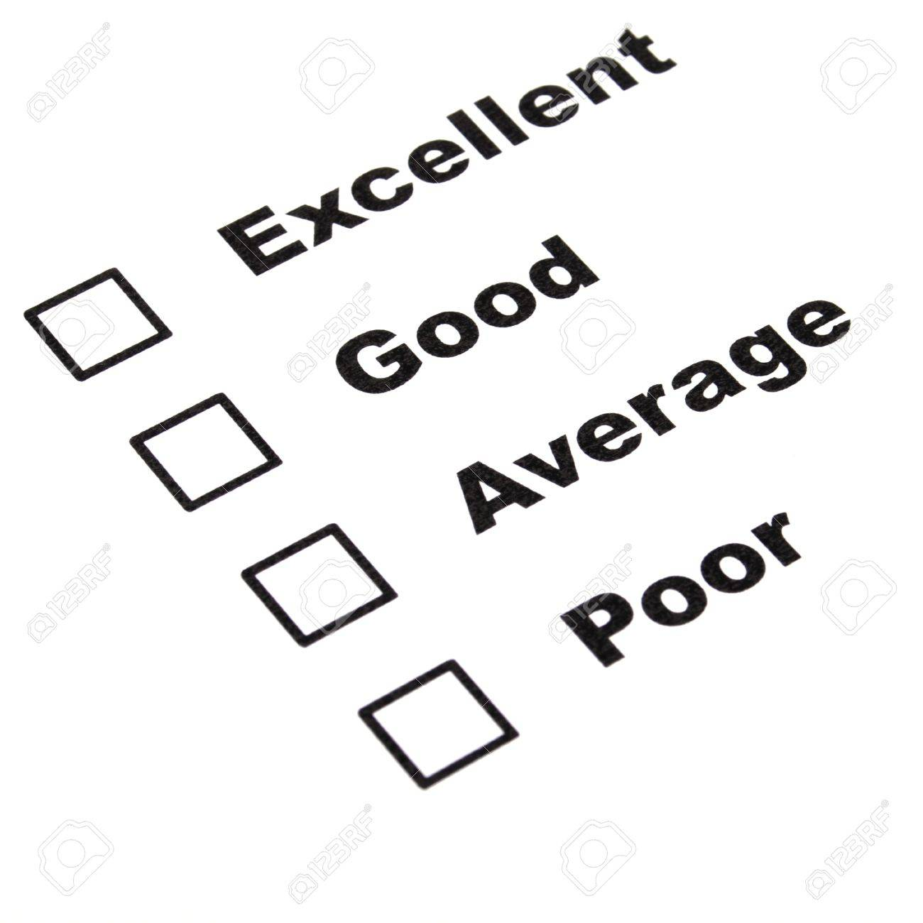 customer satisfaction survey form with checkbox showing marketing concept Stock Photo - 8119798