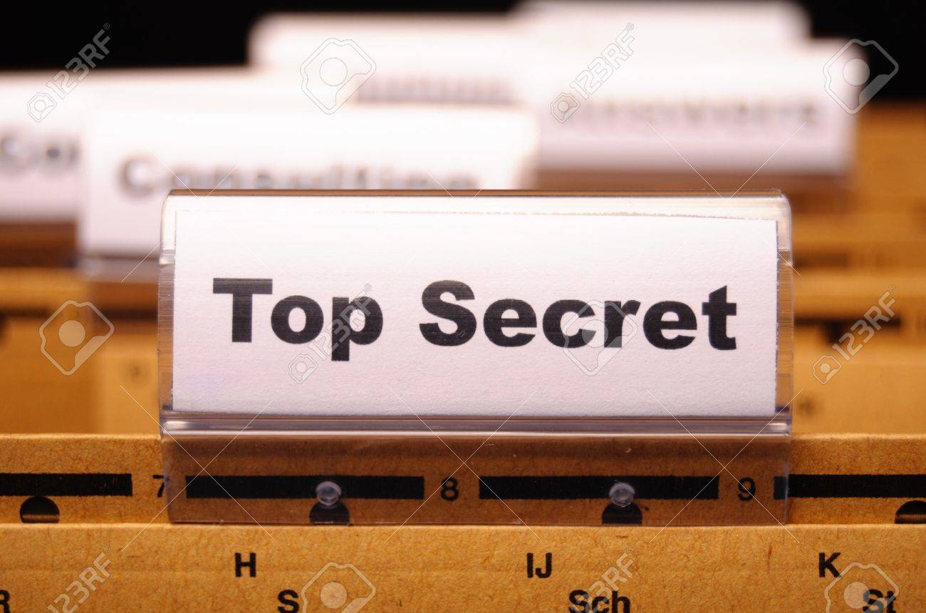 top secret folder or file in a business office Stock Photo - 8119921
