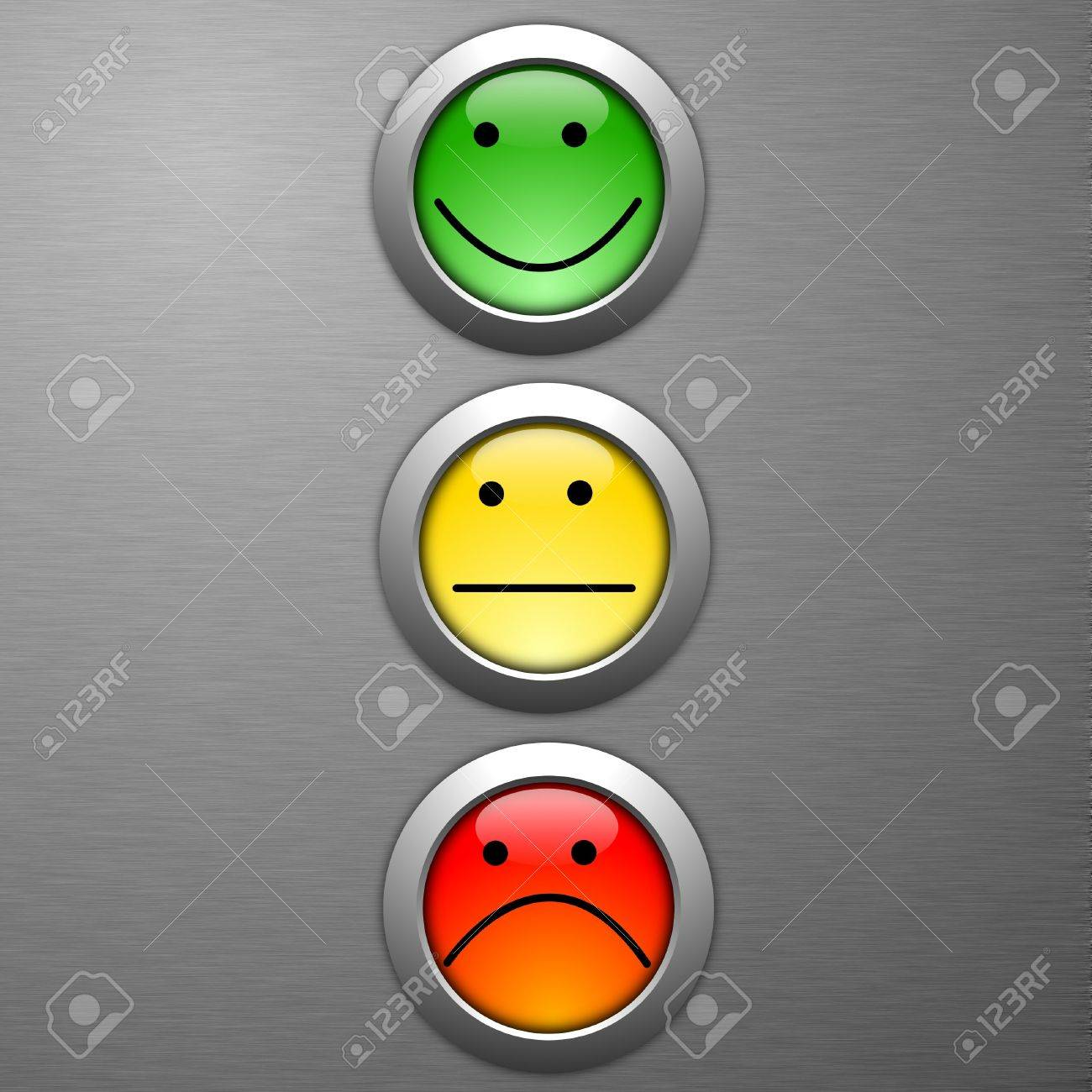 poll or customer satisfaction survey concept with smilie button Stock Photo - 8119903