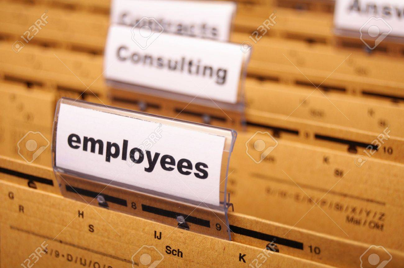 employess word on business office folder shopwing job hiring or work concept Stock Photo - 8183286