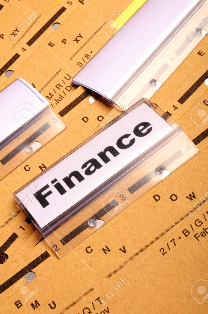 finance on business office folder showing financial success concept Stock Photo - 8221902