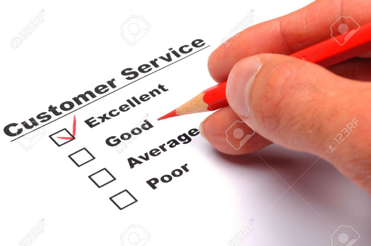 Customer Satisfaction Survey Form With Checkbox Showing Marketing  Customer Satisfaction Survey Form With Checkbox Showing Marketing Concept Stock Photo Photo  Customer Satisfaction Survey Form With Checkbox Showing Marketing Concept