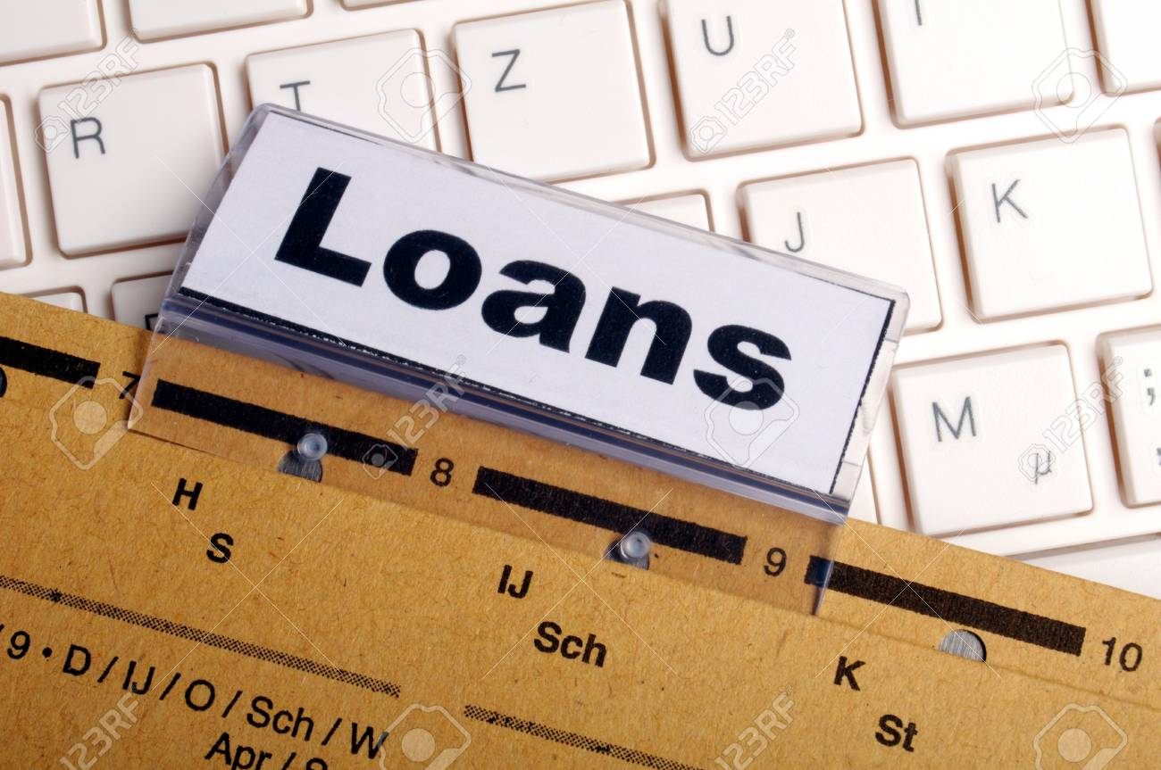 loan application in business folder showing financial investment concept Stock Photo - 8705556