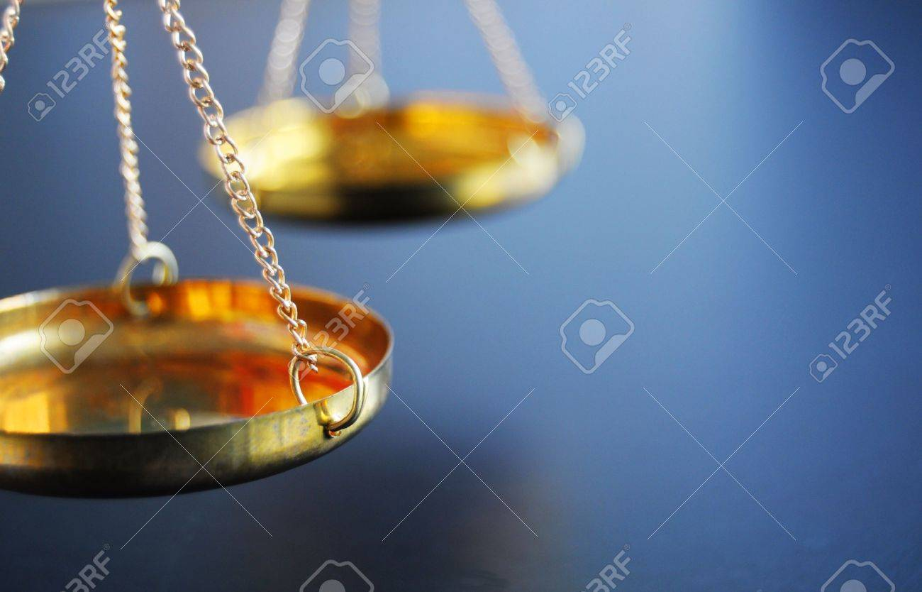 sclaes with copyspace showing law justice or court concept Stock Photo - 9083762