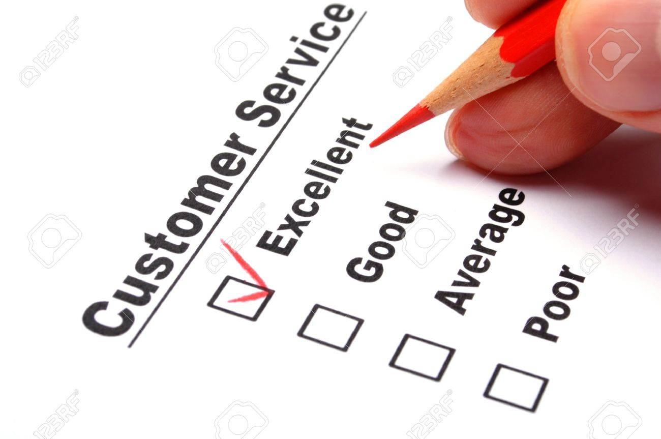 quality survey form with red pencil showing marketing concept Stock Photo - 9506026