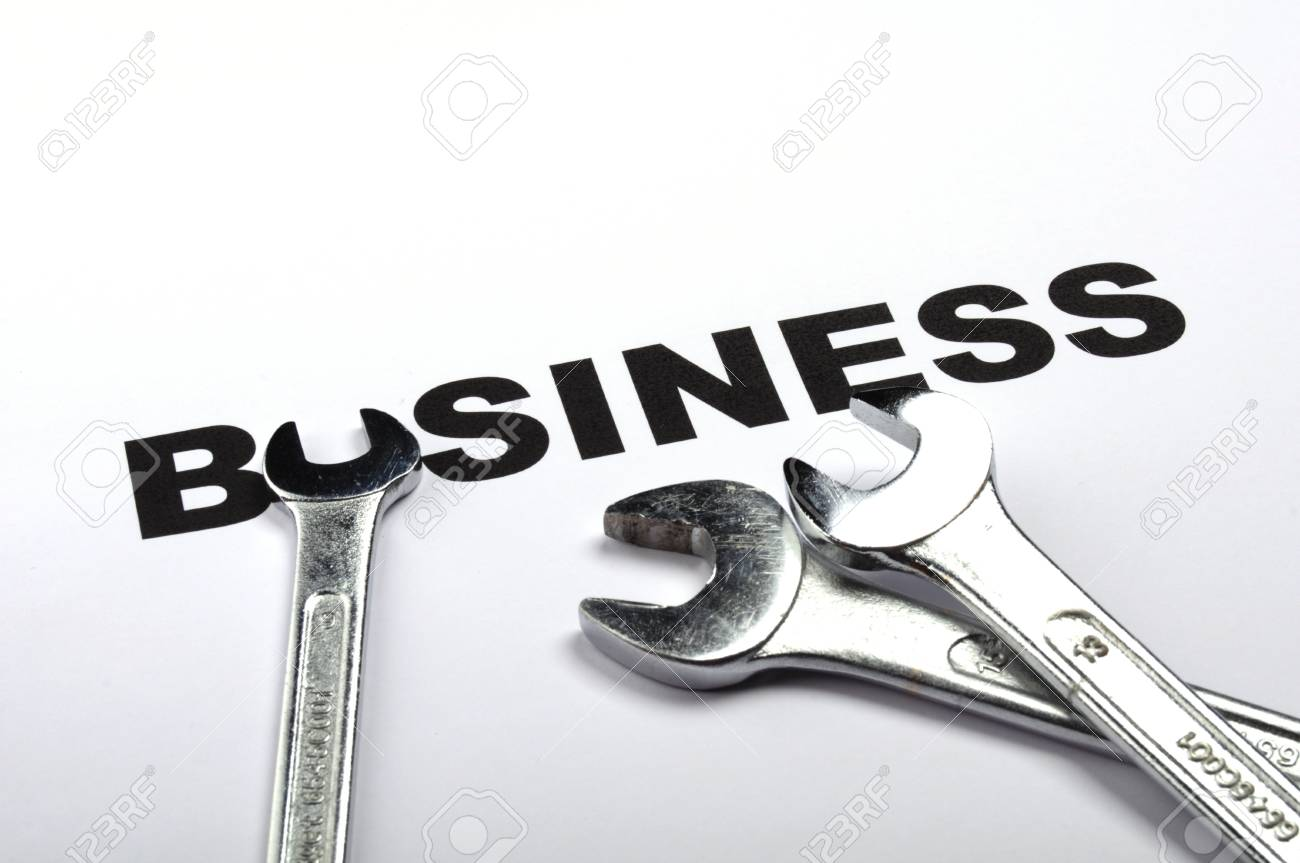 business concept with construction tool showing success Stock Photo - 9594643