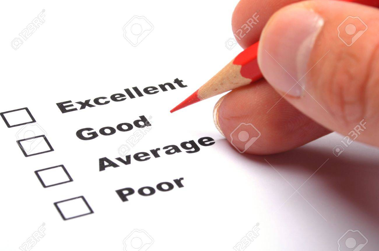 checkbox and red pen showing customer service survey or satisfaction concept to improve sales Stock Photo - 9771511