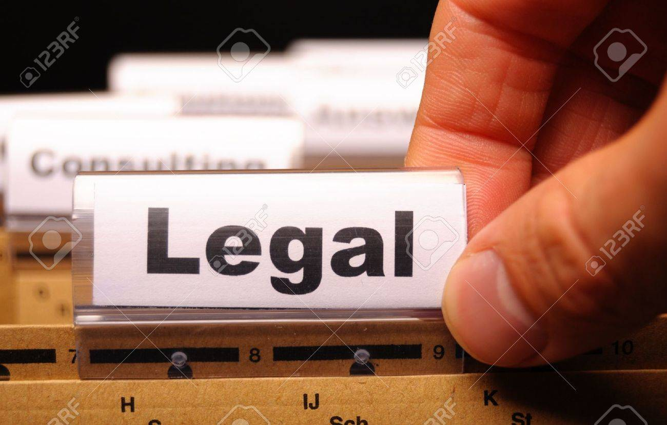 legal word on folder index showing law court or justice concept Stock Photo - 9771523