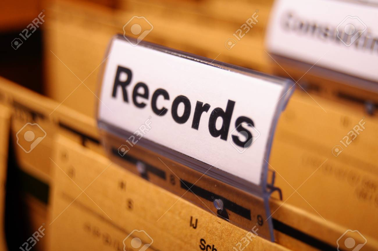 records word on business folder index showing office concept Stock Photo - 9771533