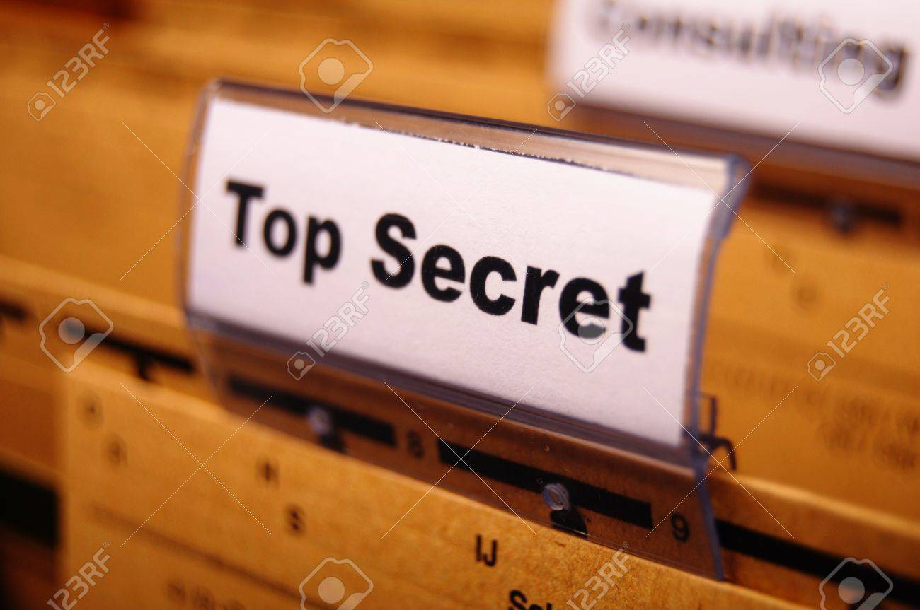 top secret folder or file in a business office Stock Photo - 9771535