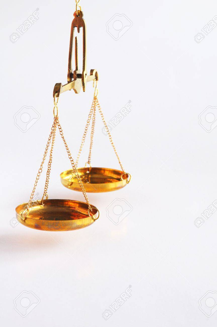 scale or scales with copyspace showing law justice or legal concept Stock Photo - 9771545