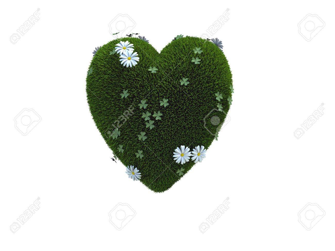 green Heart Stock Photo - 9570349
