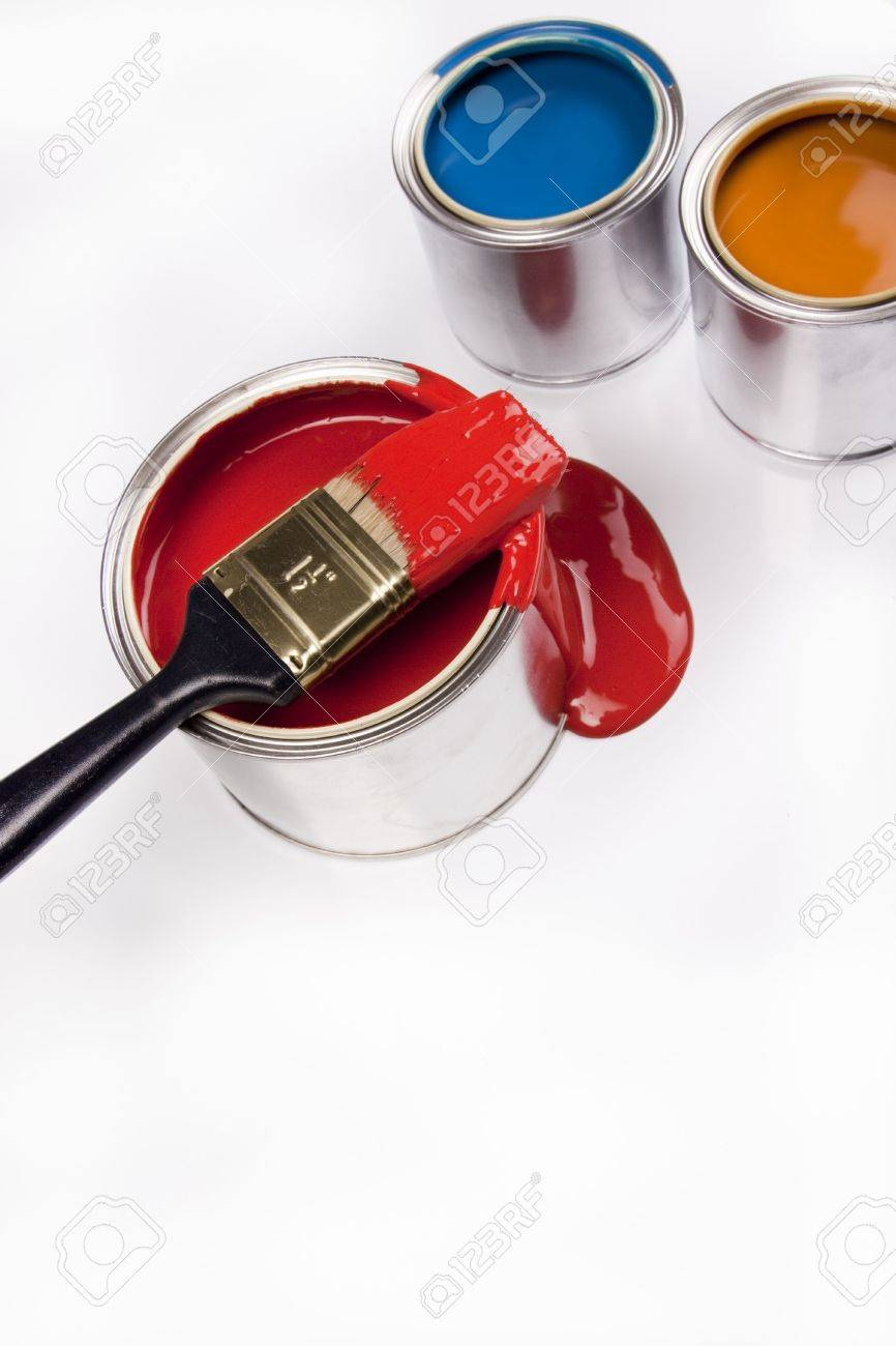 Composition of paint Stock Photo - 4929113