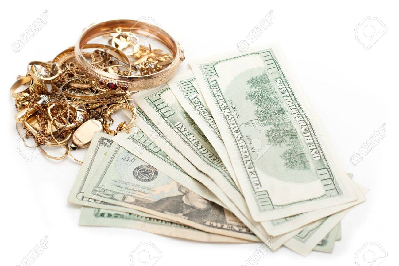 cash dollar for gold and silver scrap Stock Photo - 12052998