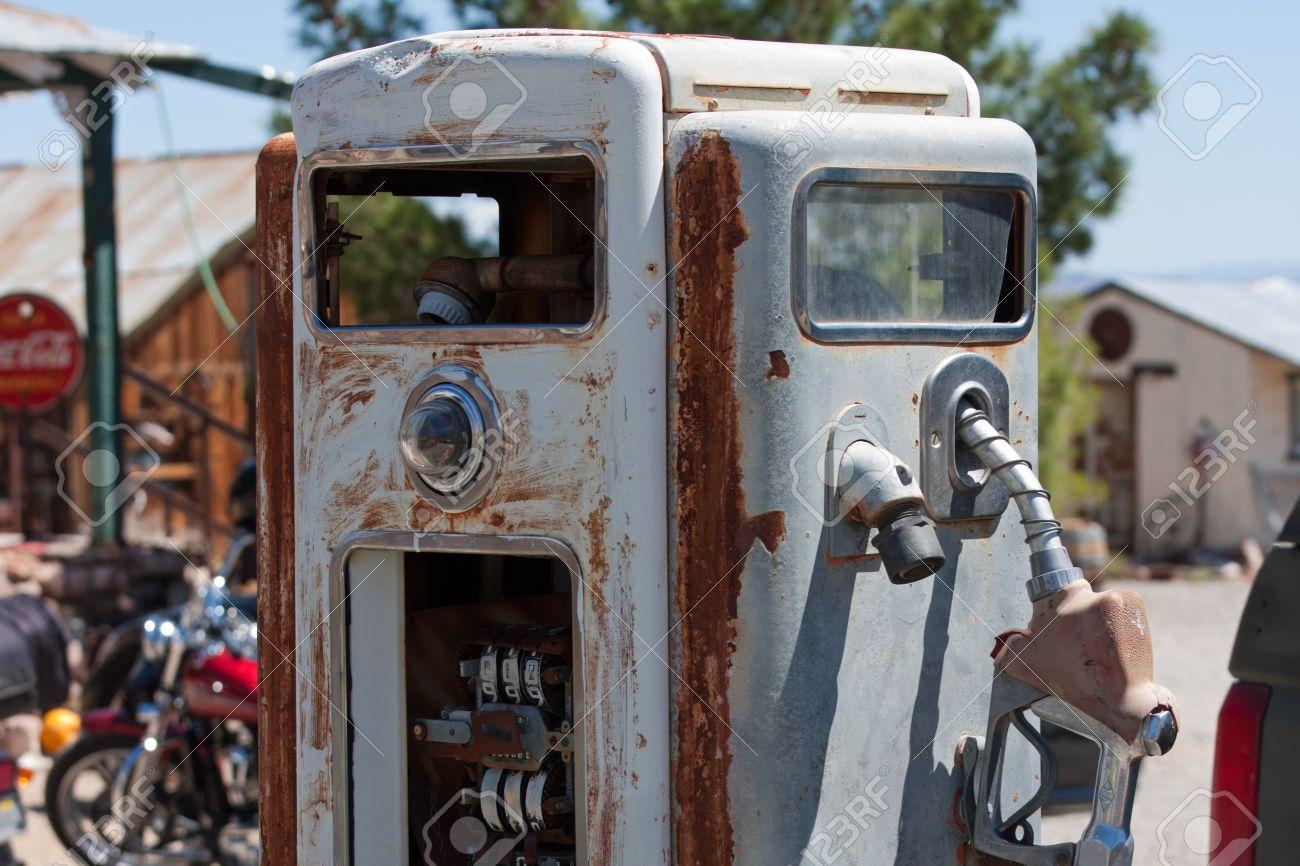 antique unrestored gas pump Stock Photo - 13455805