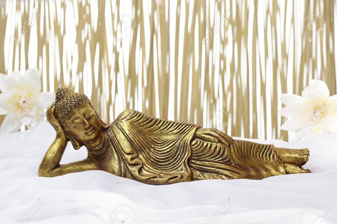 Accessori Dorati Per Bagno.Accessori Da Bagno Con Buddha Dorme Dorate