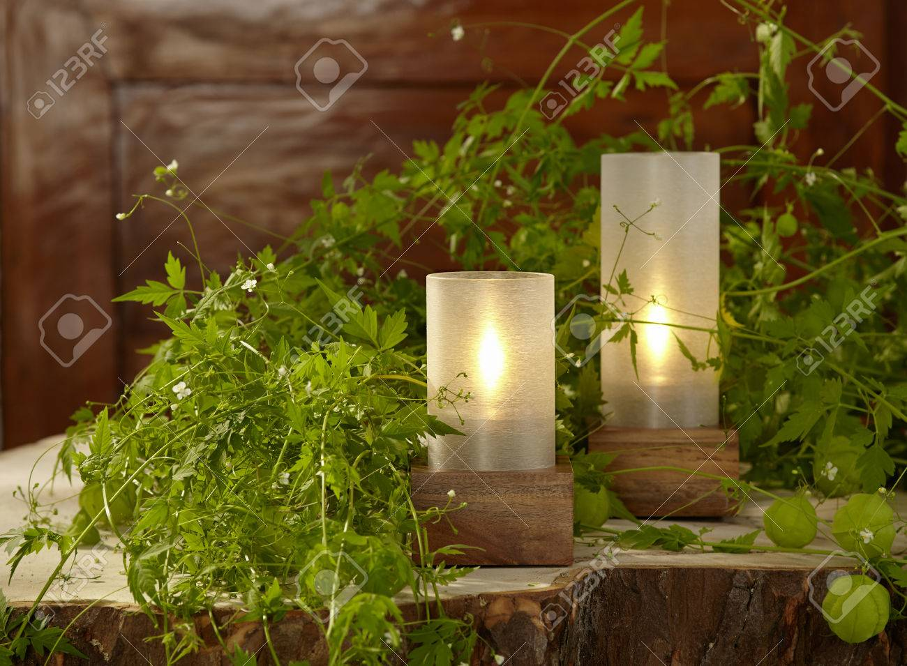 Cozy Table Lights For The Garden Party Stock Photo   37206652