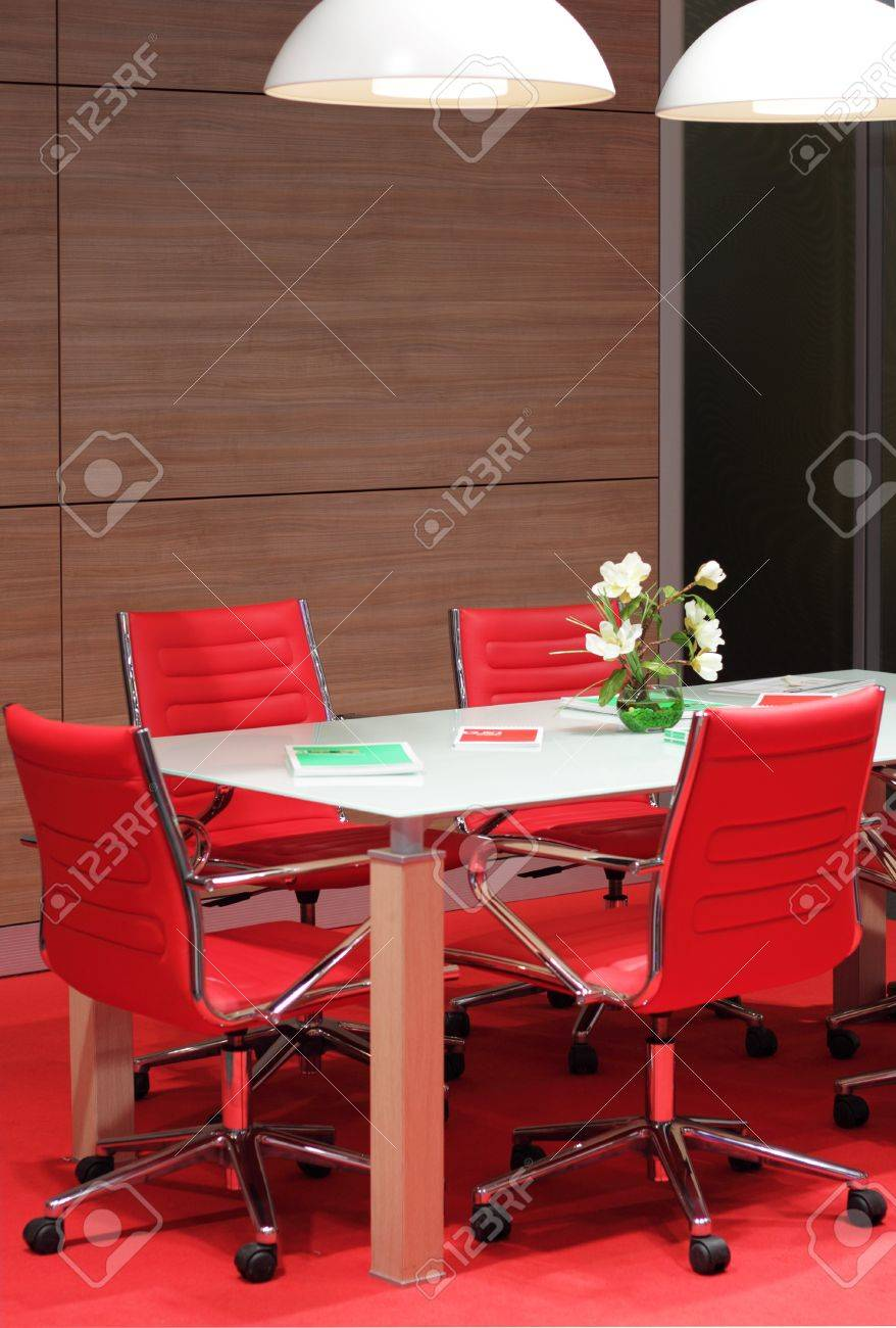 Office Meeting Room With Red Chairs Stock Photo Picture And Royalty Free Image Image 20399377