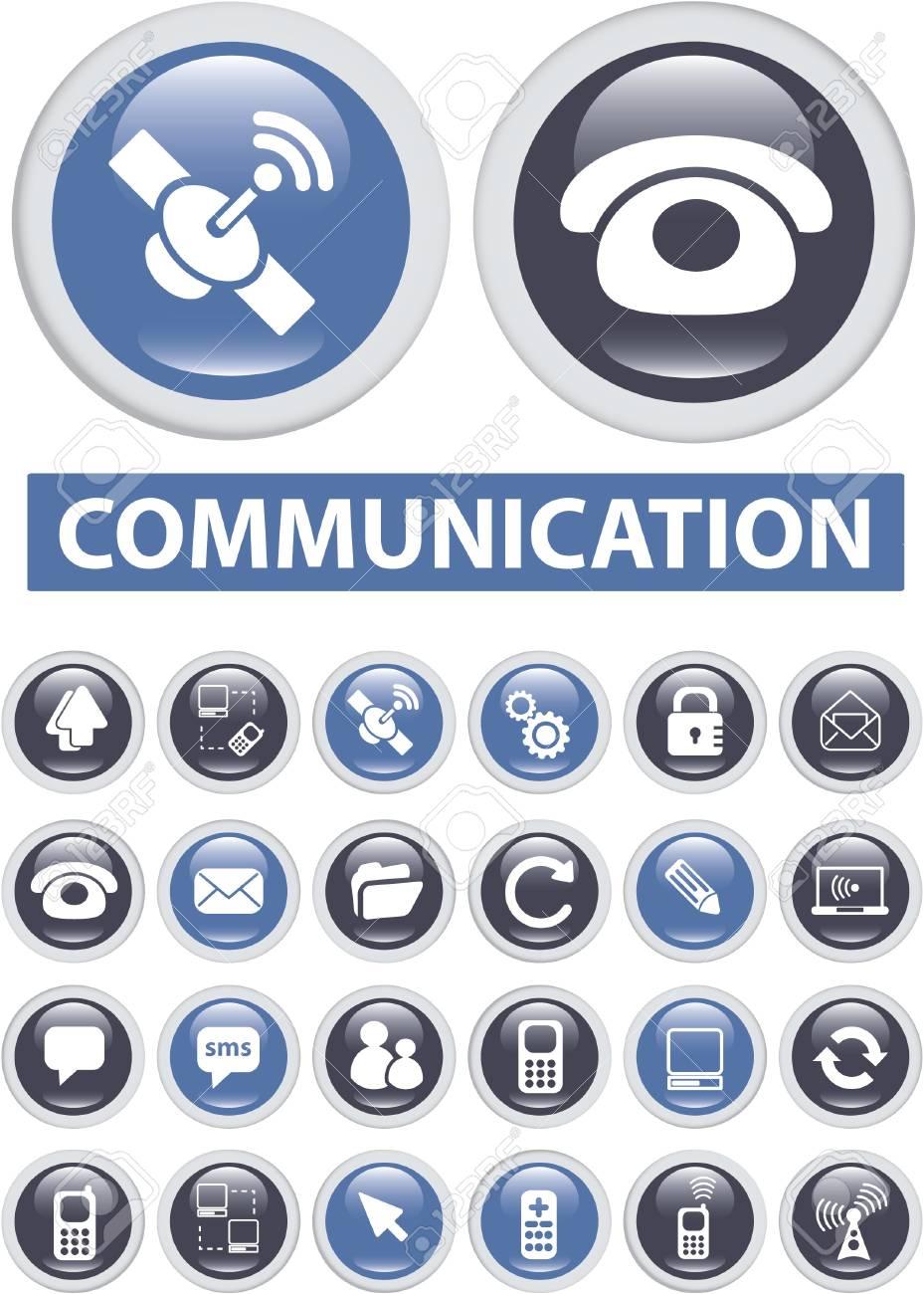 communication buttons Stock Photo - 8905002