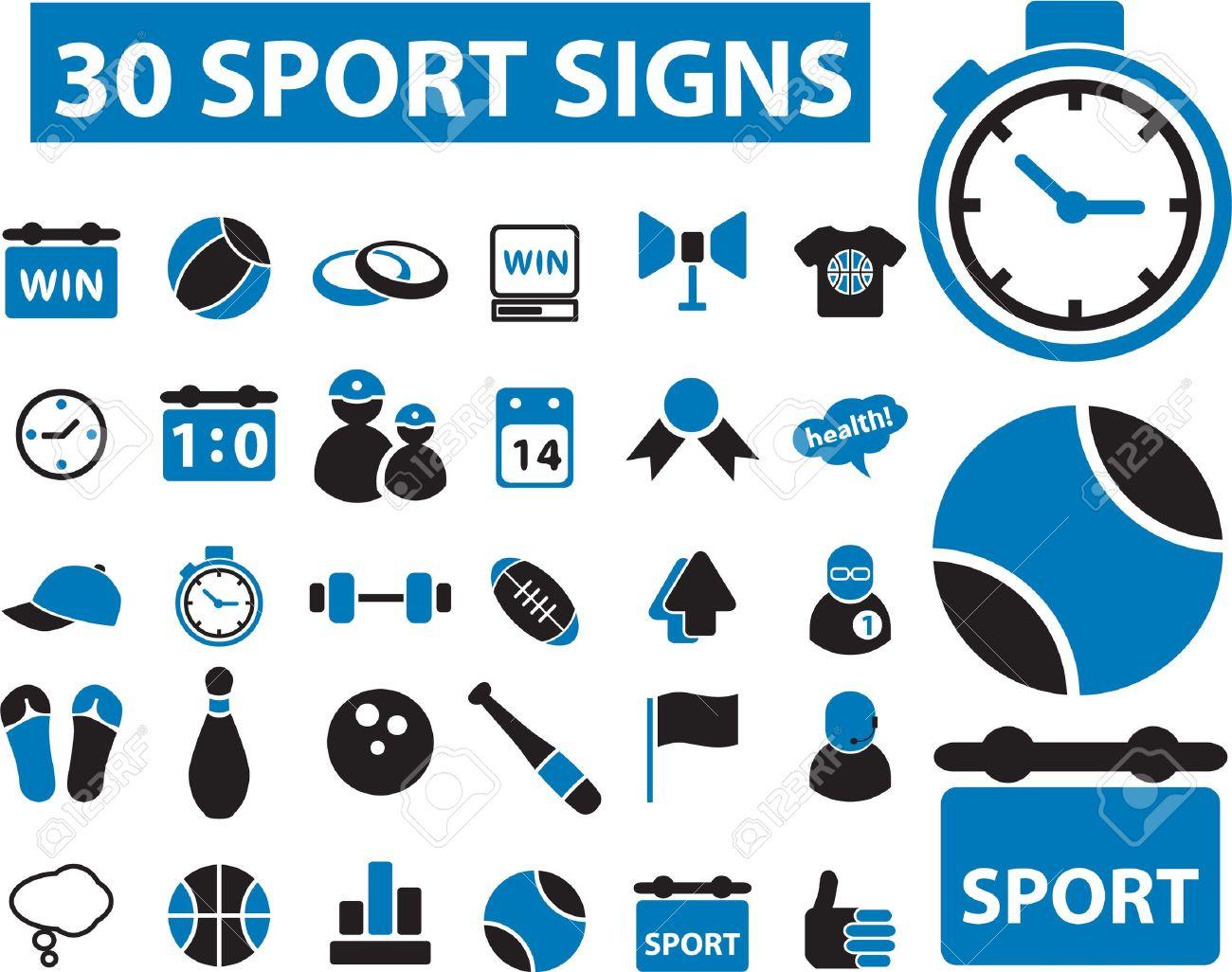 30 sport signs Stock Vector - 8905040