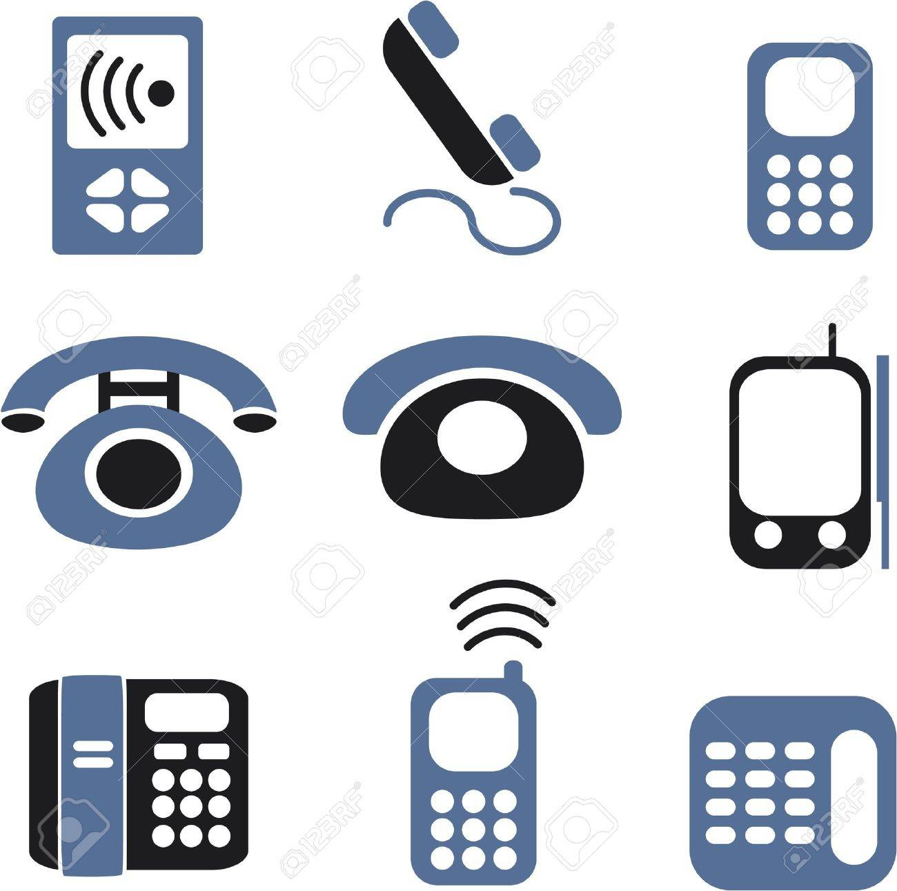 phones signs Stock Vector - 8953077