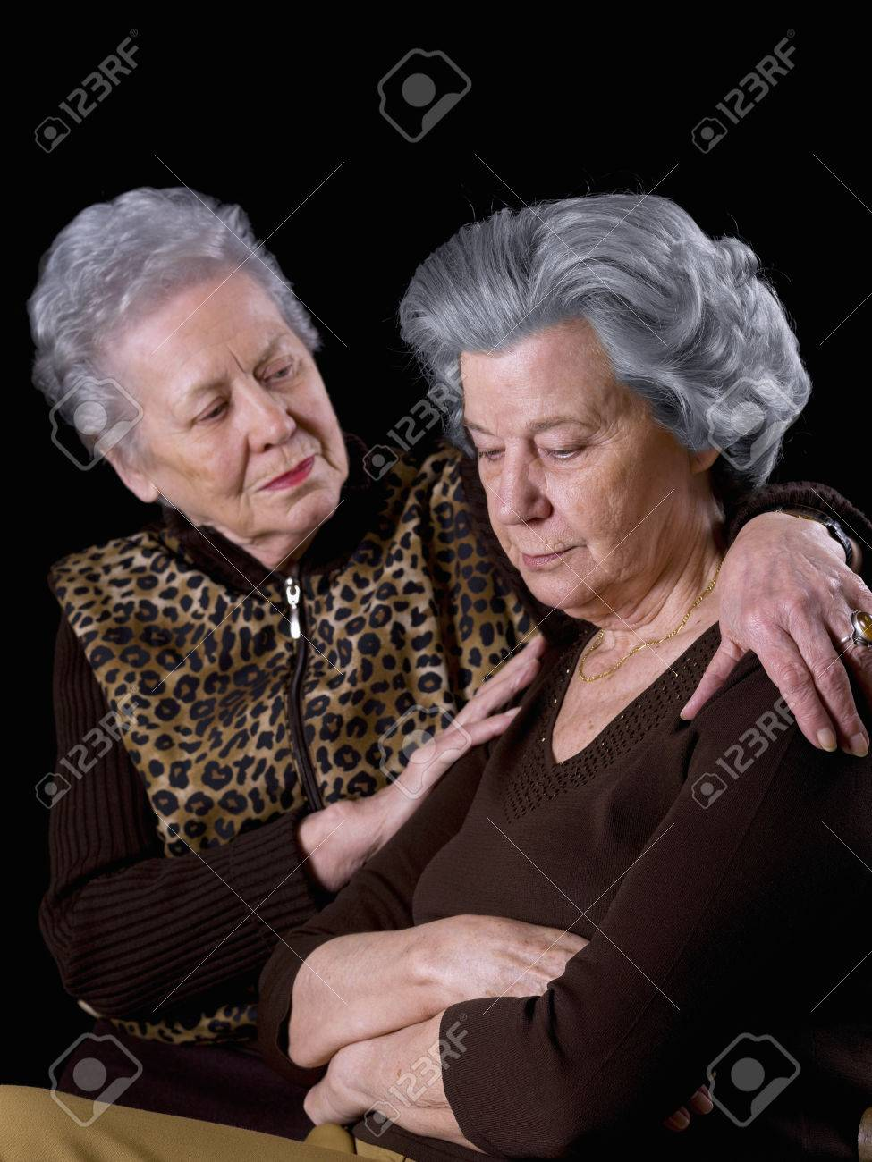 Old woman, comforting a friend - 38156319
