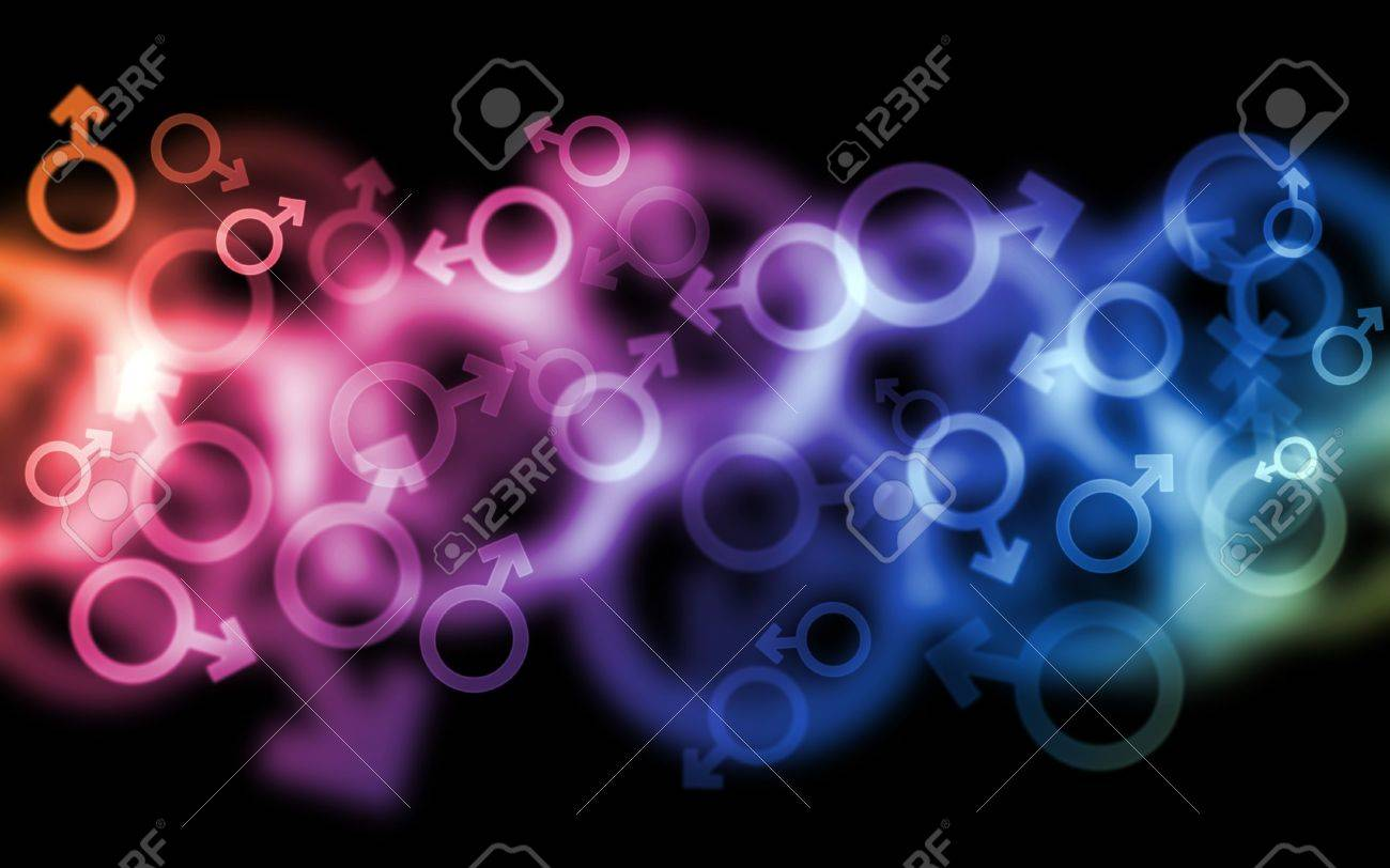 Multicolor vibrant male gender symbol bokehs on beautiful background. Good for holiday and design use. Stock Photo - 6499153